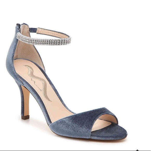 c9c5bee58d0 Mia velvet embellished sandals. Size 7